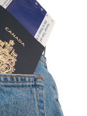 Back Pocket  - Passport & Ticket