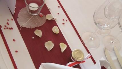 Tischdekoration Restaurant