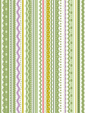 Fototapety Seamless (repeatable) green and white ribbons background