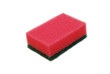 red sponge isolated
