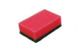 red sponge isolated