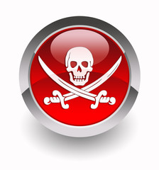 Pirates glossy icon