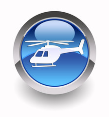 Helicopter glossy icon
