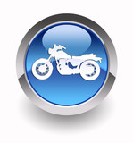 Motorcycle glossy icon