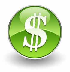 Dollar glossy icon