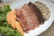 Meat assortment on a plate