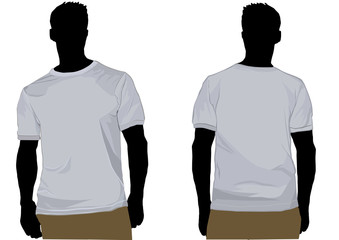 Tshirt template with silhoutte