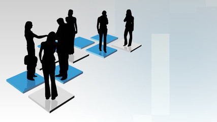 Abstract Business People Animation