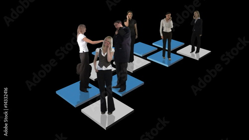 Abstract Business Team Animation in black background