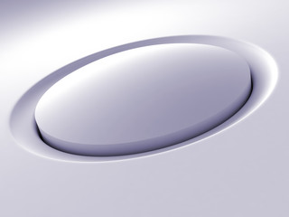 white button from a modern electronic device