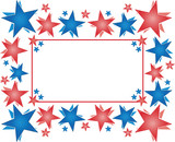 Frame with stars - Happy 4th of July poster