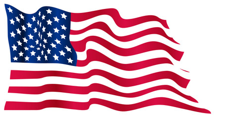 Wavy US flag