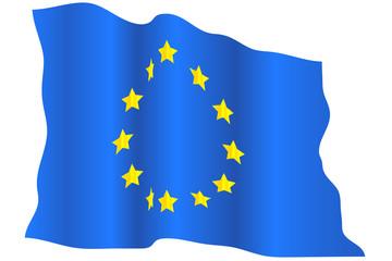 Wavy EU flag