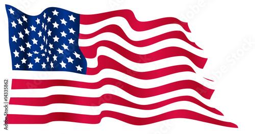 Wavy US flag - 14335862