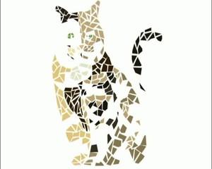 mosaico gatto