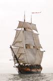 Fototapeta maszt - olinowania - Jacht