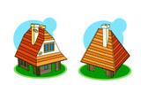 Cute little little Hungarian houses poster