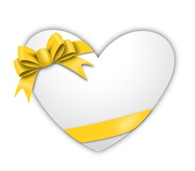 A heart and yellow Ribbon