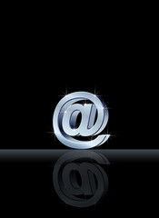 Silver email symbol