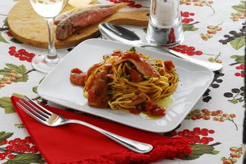 Tagliolini con le triglie - Primi piatti italiani