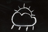 chalk weather forecast poster