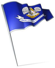 Flag pin - Louisiana (USA)