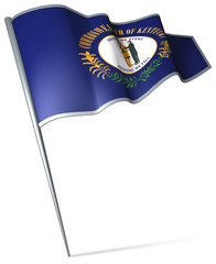 Flag pin - Kentucky (USA)