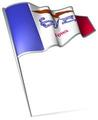 Flag pin - Iowa (USA)