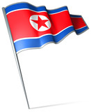 Flag pin - North Korea