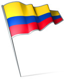 Flag pin - Colombia poster