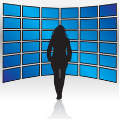 Wall of Widescreen TVs