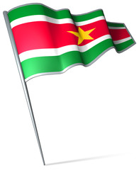 Flag pin - Suriname