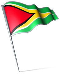 Flag pin - Guyana