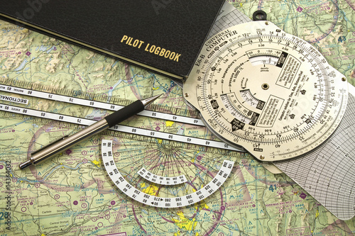 The VFR pilot's tools for Pilotage and dead reckoning. - 14364032