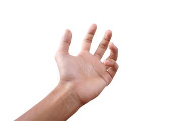 Reacing hand.