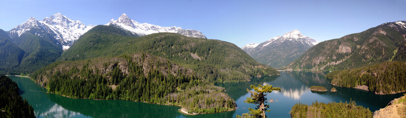 North Cascades and Diablo lake Panorama