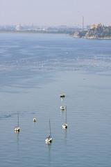 barche nel golfo di trieste