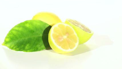 Fresh lemons zoom in - HD