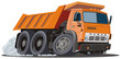 Vector cartoon dump truck