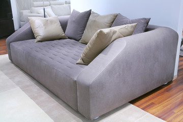 sofa and many pillows