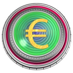 Icona Euro 3d rendering