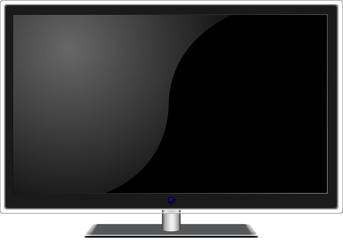 New widescreen TV set in elegant glass design