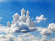 fantasy castle in clouds - 14386009