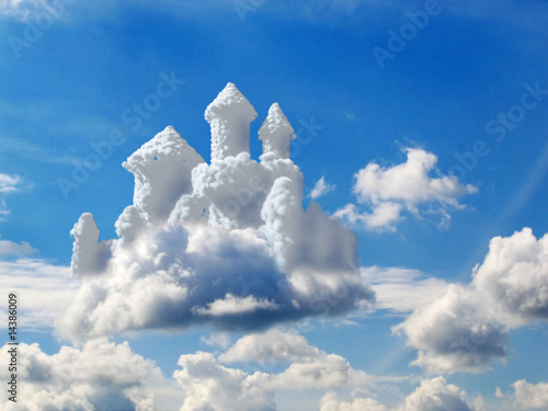 fantasy castle in clouds