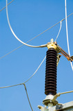 switch on high-voltage electric substation poster