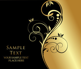 gold floral background