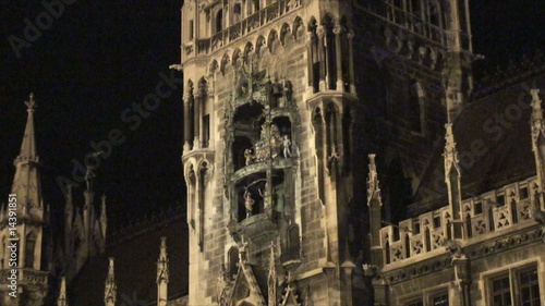 Marienplatz Square at night Germany - Zoom out
