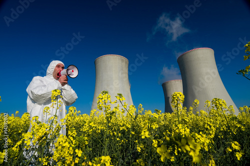 Man at power plant