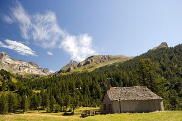 small church in mountain landscape