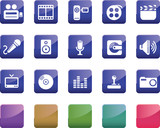 Multi Media Icon Set